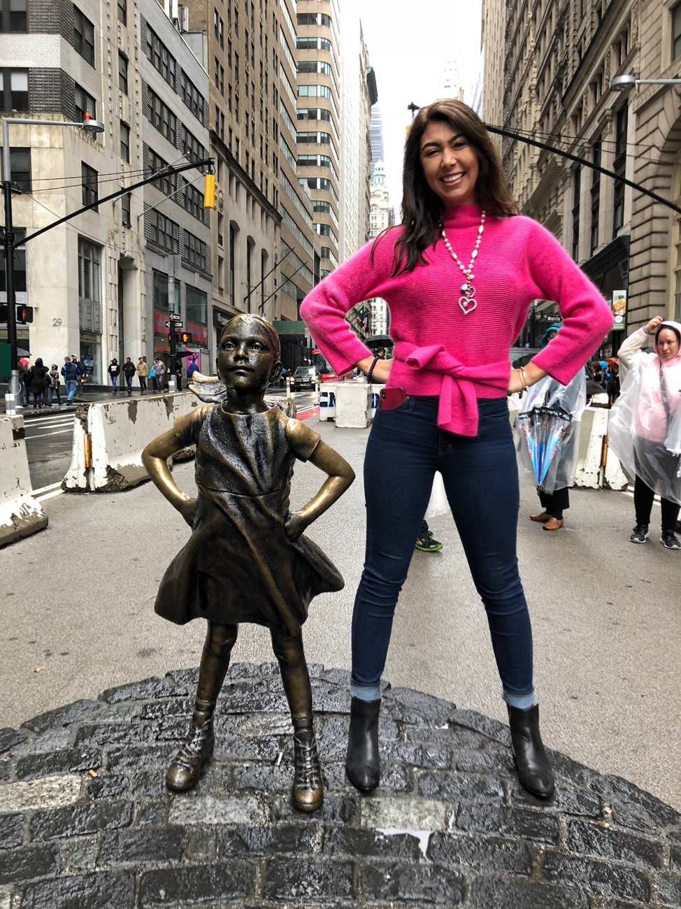 Lynnie Lucas and Fearless Girl