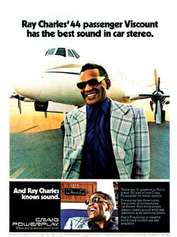 Ray Charles Example Ad 1970s