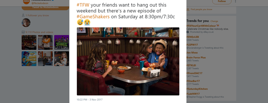 Nickelodeon Visible Content Example